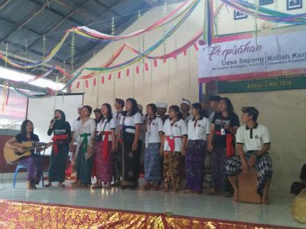 Perpisahan KKN Universitas Pendidikan Ganesha Singaraja Tahun 2018 Di Desa Sepang