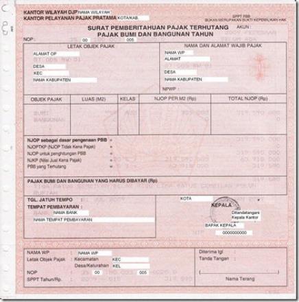 Pengumuman!!! Jadwal Pembayaran PBB Online Di Desa Sepang