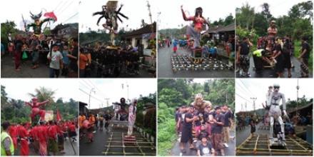 Pengerupukan di Desa Sepang, 9 Ogoh-Ogoh Tampil Memukau di Pusat Desa
