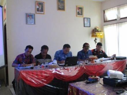 Panitia Pemilihan Perbekel Desa Sepang Sampaikan Program Kerja dan RAB