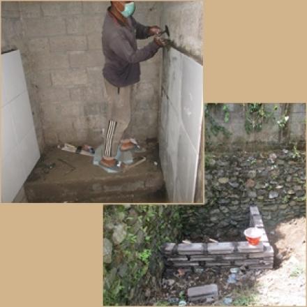 Dua Proyek Pembangunan dan Pemeliharaan WC Posyandu di Desa Sepang telah Mulai Digarap