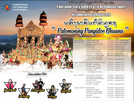 Pagelaran Seni dan Budaya Gita Merdangga Shanti V akan Dibuka Petang Nanti