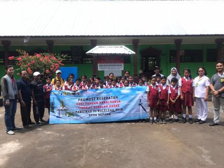 Info PAMSIMAS 2019 : Promosi Kesehatan CTPS Dilaksanakan di Dua Sekolah Dasar di Desa Sepang
