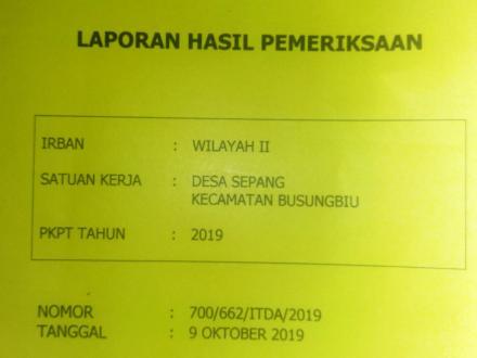 LHP Inspektorat Daerah Kabupaten Buleleng : Secara Umum Desa Sepang dalam Kondisi Baik