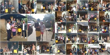 Artikel Sosok : Kadek Mertayasa Bagikan 26 Paket Sembako Kepada Warga Lansia di Desa Sepang