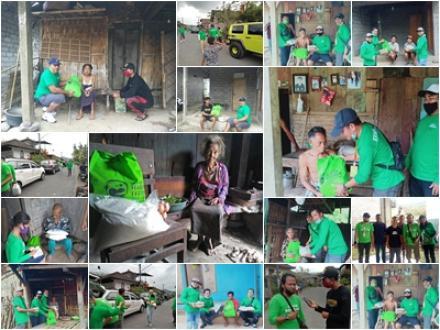 Yayasan Harta Titipan Bagikan Sembako di Desa Sepang, Ary Kencana dan Tim Salurkan Secara Langsung