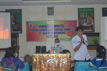 Pengurus BUMDesa Karsa Sejahtra Ikuti Penguatan Kapasitas Pengurus BUMDesa se-Kecamatan Busungbiu