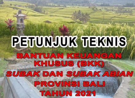 Sosialiasi Bantuan Keuangan Khusus (BKK) Subak Abian Se-Bali Tahun 2021 oleh Dinas PMA Provinsi Bali
